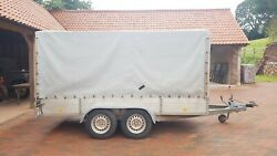 Trailer Braked Twin Axle 11.8ft X 5.6ft With Full Heavy Duty Cover