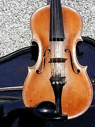 Antique Quality Violin One Piece Back With Case And Bow