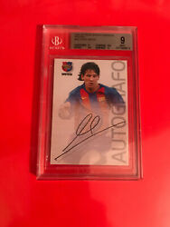 2004-05 Panini Lionel Messi Rookie Card Bgs 9 Fresh Case