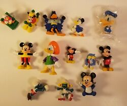Lot Of Mixed Vintage Disney Mickey Mouse Donald Duck Smurfs Toys Figures
