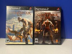 God Of War I And Ii 1 And 2 Sony Playstation 2 Ps2 Complete Game Bundle Tested