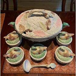 Fitz And Floyd - Autum Leaves - Soup Tureen And Covered Bowls