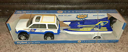 Vintage 1994 Nylint Napa Pressed Steel Toys 4x4 Power Prop Combo Suv And Boat Nib