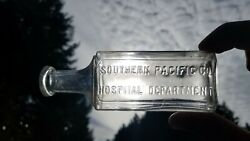 Antique Southern Pacific Co. Hospital Bottle - Old Hawaiian Bottle Western Med