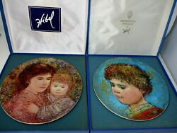 Edna Hibel 2002 All My Delight And 2004 Of Peace Collector Plates