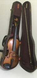 Karl Hermann Stradivarius Model Violin 1956 W Case And Bow Checked By Scherland Roth