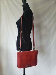 Fossil Red Leather Crossbody Handbags Purse Bag 11quot;×9quot; $39.99