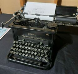 Vintage 1930's Lc Smith And Corona Typewriter Silent Rare 14in Carriage New Ribbon