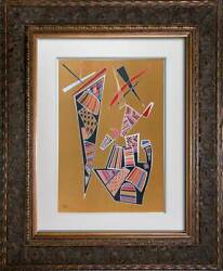 Wassily Kandinsky Lithograph Limited Edition Lithograph Ltd. 167 W/frame Include