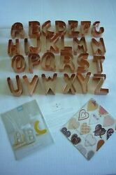Martha By Mail Stewart Copper Cookie Cutter Set - Rare Alphabet - Never Used