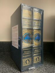 Brandon Sanderson Signed Book The Way Of Kings Leatherbound Edition Preorder