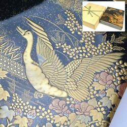 Hobby Finest Lacquer Lacquer Bird Picture Box Kende Lacquer Work Kirikane Dept
