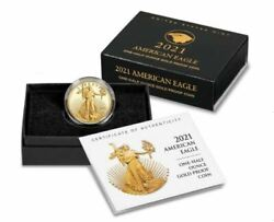 Sealed American Eagle 2021 One-half Ounce Gold Proof Coin Type 2 1/2oz 21ecn