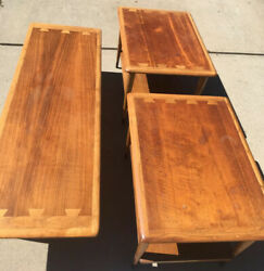 Lane 1961 Mcm Acclaim Coffee Table W/matching End Tables