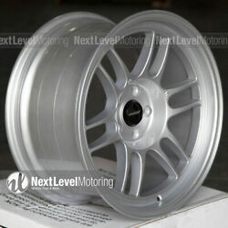Circuit Cp37 18x9.5 5-114.3 +25 Silver Wheels Rpf1 Style Fit Civic Accord Stance