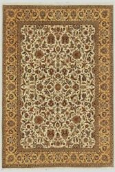 Hand Knotted Wool Area Rug Floral Indian Handmade Office/home Dandeacutecor Carpet 9x12