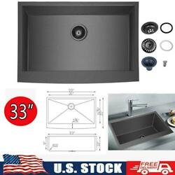 33x21 Inch Farmhouse Kitchen Sink Apron Front Stainless Steel Deep Single Bowl