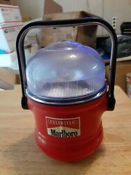 Vintage Marlboro Lantern Lamp 1950's Camping Batteries Not Included Tested Works