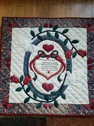 Handmade Wall Hanging Quilt 35 x 36 in very good condition