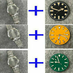 39mm Stainless Steel Oyster Watch Case Strap Dial Kits For Nh35/nh36 Movement