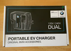 Bmw Portable Ev Battery Charger Turbo Cord Dual 120v/240v Brand New In Box