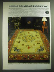 1974 Pande, Cameron Cathay Rug Ad - There's No Such Ming As The Next Best Ming