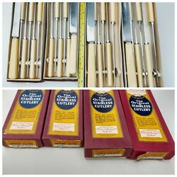 24 Rare R F Mosley Antique Art Deco Table Knives Boxed Sheff England Quality