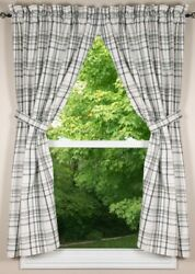 Crawford 72x 63 Unlined Cotton Curtain Panels By Primitive Home Decors