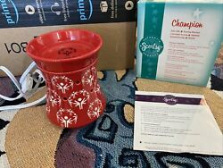 Scentsy Warmer Full Size Champion Special Olympics Red
