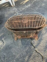 Lodge Sportsmans Cast Iron Hibachi Grill 3059 Bbq Outdoors Portable Made In Usa