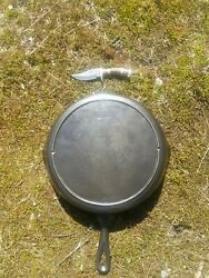 Antique Old Lodge 10 Skillet - Nice Old Usa Cast Iron Cookware Seasoned
