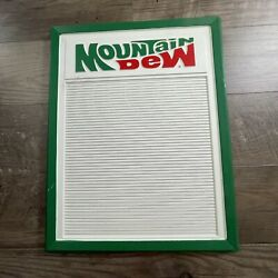 Vintage Mountain Dew Menu Board Sign New Old Stock