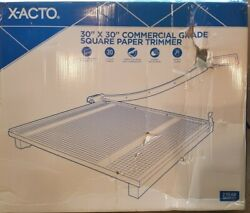 X-acto Square Commercial Grade Wood Base Guillotine Trimmer 20 Sheets 30 X 30