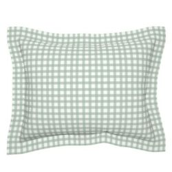 Rustic Grid Watercolor Farmhouse Checkered Mint Green Pillow Sham By Roostery