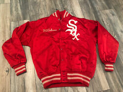 Rara 70's Chicago White Sox Wilson Red Satin Jacket Size 42 Team Issued