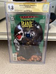 Vengeance Of Bane Ii Cgc 9.8 Wp Signed And Sketched Dixon And Nolan 1 Of A Kind