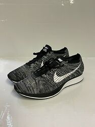 Nike Flyknit Racer And039oreo 2.0and039 Mens Running Size Uk8 Eu42.5 Us9 526628-012