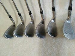 Taylormade M4 Iron Set 6 Thru Pw Aw Kbs Max 85 Shafts New Lampkin Mid Size Grips