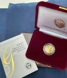 American Eagle 2021 W One-tenth 1/10 Ounce Gold Proof Coin 21ee