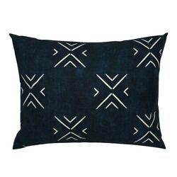 Modern Farmhouse Indigo And Bone Weathered Look Minimal Pillow Sham By Roostery