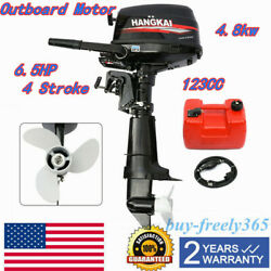 4 Stroke 6.5hp Outboard Motor Fishing Boat Engine Water-cooling Short Shaft Cdi
