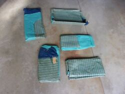 Nos 1949 54 Plymouth Dodge Chrysler Desoto Front And Back Seat Covers Blue