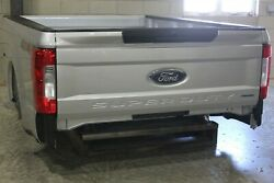 Oem Factory 17-19 Super Duty Long Bed 8and039 Truck Box Silver New Take Off Aluminum