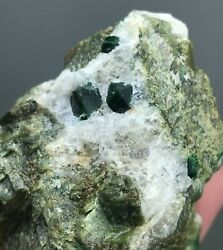 126 Gm Rare Uvarovite Full And Terminated Crystals On Matrix From Afghanistan