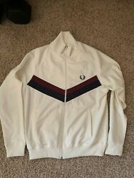 SZ M Fred Perry White Zip Up $80.00