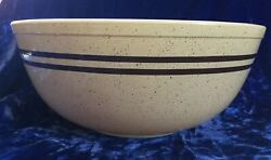Pyrex Brown Speckled Stripes Large Mixing Bowl Chip And Dip Promotional Corning
