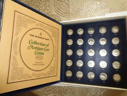 1969 Franklin Mint 25 Sterling Silver Antique Car Medals Series 2 W/ Box And Book
