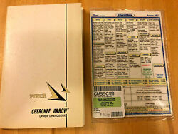 Piper Cherokee Arrow 180 Owners Handbook And Checklist Pa-28r-180 753-750 New