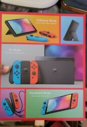 Nintendo Switch Console Red Black Oled Model 7andrdquo Screen 64 Gb Brand New In Hand