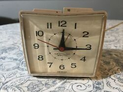 Vintage Westclox Alarm Clock Made In Usa Tested Works Electric Retro Square